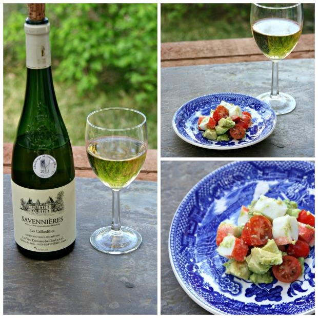 Les Caillardieres and crab avocado salad